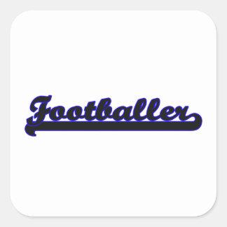 Footballer Classic Job Design Square Sticker
