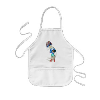 Footballer Digital Art Kids Apron