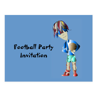 Footballer digital art postcard