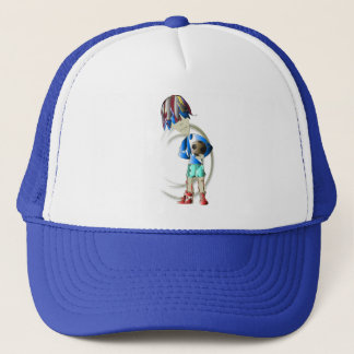 Footballer Digital Art Trucker Hat