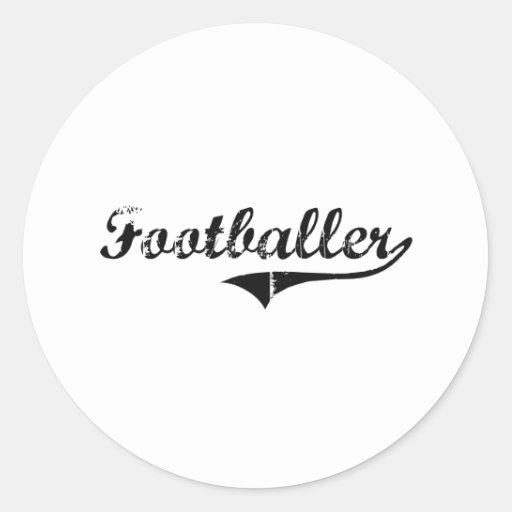 Footballer Professional Job Sticker