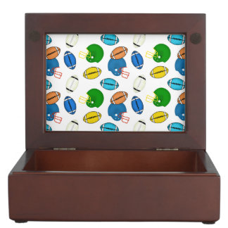 Footballs and Helmets sport theme patterns Memory Boxes