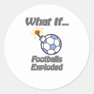 Footballs exploded round sticker