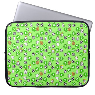 Footballs, Green Shirts, & Fans Laptop Sleeve