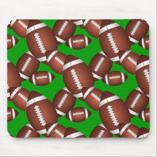 Footballs Pattern Mouse Mat