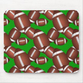 Footballs Pattern Mouse Pad