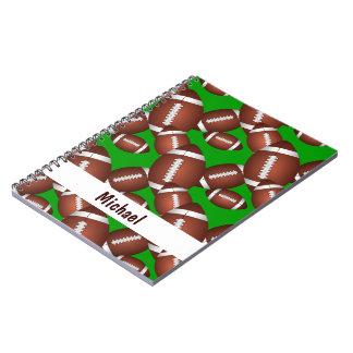 Footballs Pattern Notebook
