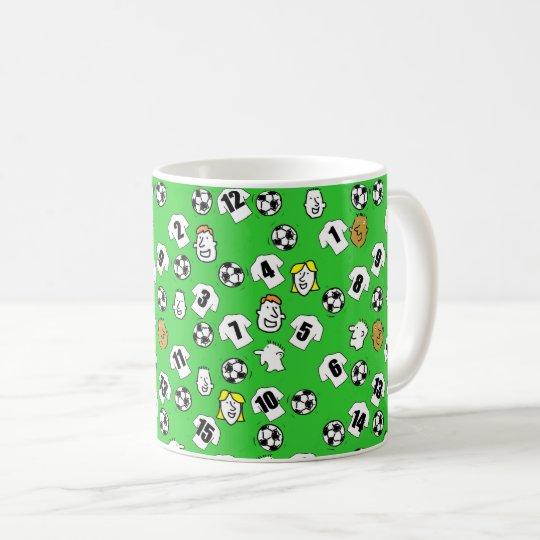 Footballs, White Shirts, & Fans Larger Pattern Coffee