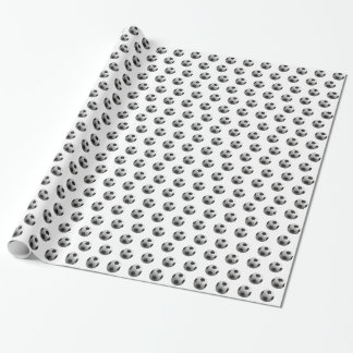 Footballs Wrapping Paper
