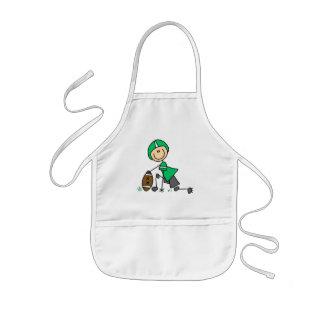 footballstickthree kids apron
