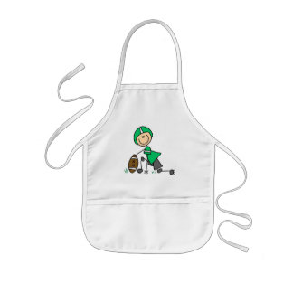 footballstickthree kids apron