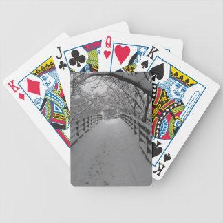 Footbridge Bicycle Playing Cards