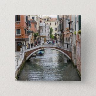 Footbridge in Venice 15 Cm Square Badge