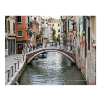 Footbridge in Venice Postcard