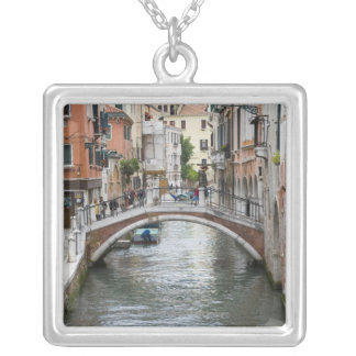 Footbridge in Venice Silver Plated Necklace