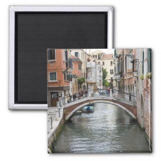 Footbridge in Venice Square Magnet