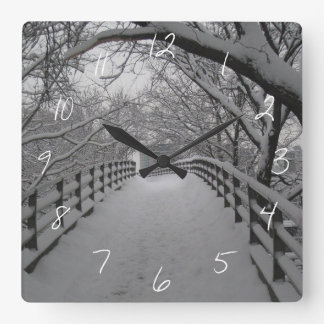 Footbridge Square Wall Clock