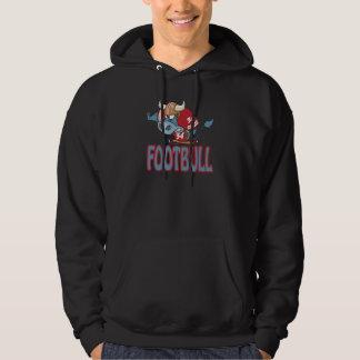 Footbull funny football bull cartoon hoodie