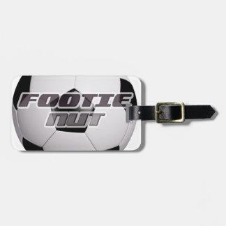 Footie Football Nut Luggage Tag