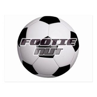 Footie Football Nut Postcard