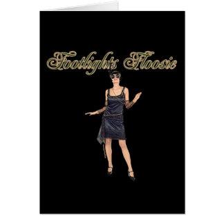 Footlights Floosie Montage Note Card