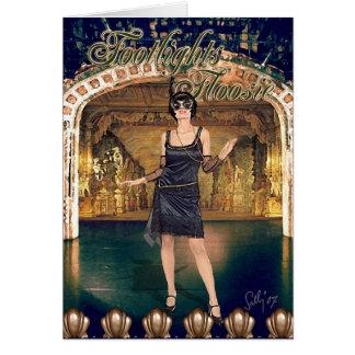 Footlights Floosie Montage Greeting Card