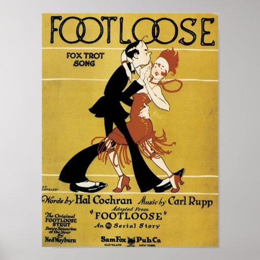 Footloose Vintage Songbook Cover Print