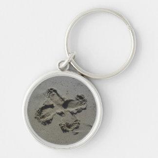 Footprint Butterfly Keychain
