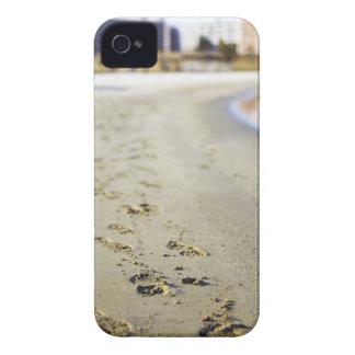 Footprint in coast. Case-Mate iPhone 4 case