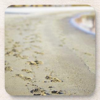 Footprint in coast. coaster