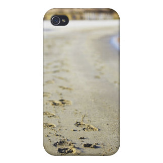 Footprint in coast. iPhone 4/4S cover