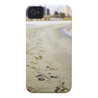 Footprint in coast. iPhone 4 cover