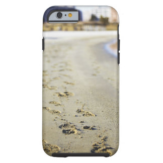 Footprint in coast. tough iPhone 6 case