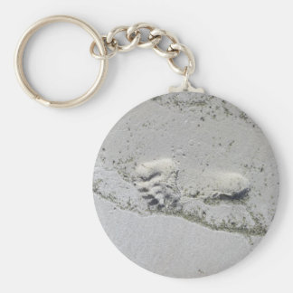 Footprint In The Sand Key Chain
