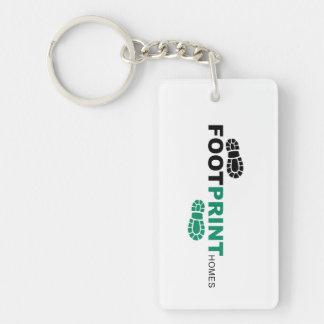 Footprint Keychain