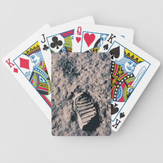 Footprint on Lunar Surface Bicycle Playing Cards