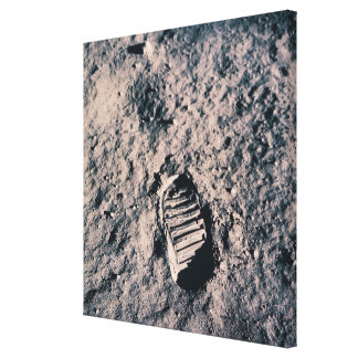 Footprint on Lunar Surface Stretched Canvas Prints