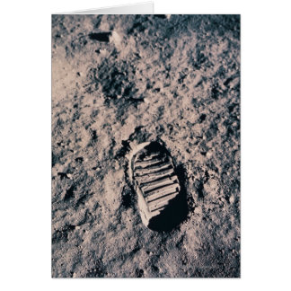 Footprint on Lunar Surface Card