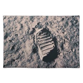 Footprint on Lunar Surface Place Mat