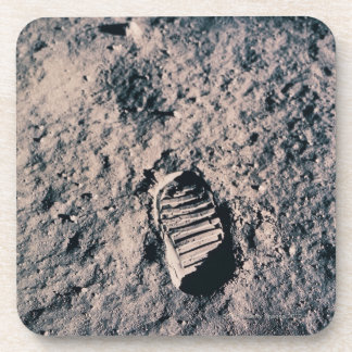 Footprint on Lunar Surface Coaster