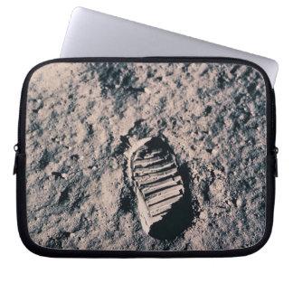 Footprint on Lunar Surface Computer Sleeves