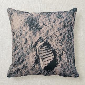 Footprint on Lunar Surface Throw Pillow
