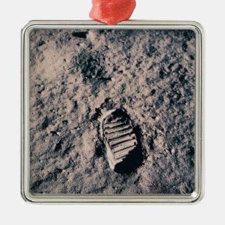 Footprint on Lunar Surface Ornament