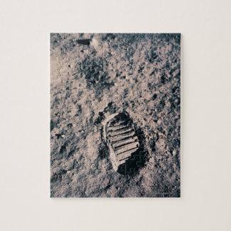 Footprint on Lunar Surface Jigsaw Puzzle