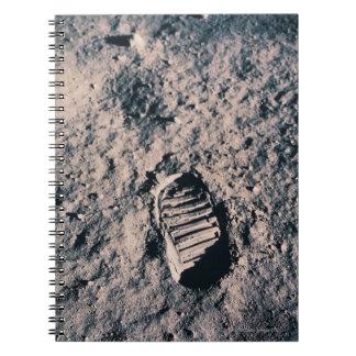 Footprint on Lunar Surface Notebook