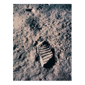 Footprint on Lunar Surface Postcard