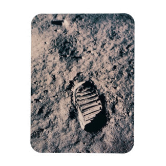 Footprint on Lunar Surface Rectangular Photo Magnet