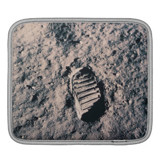Footprint on Lunar Surface Sleeve For iPads