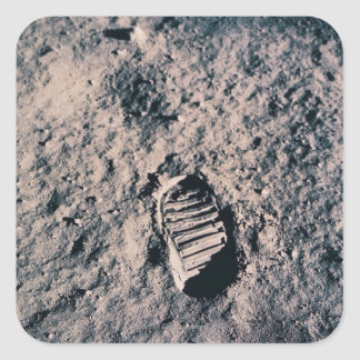 Footprint on Lunar Surface Square Sticker