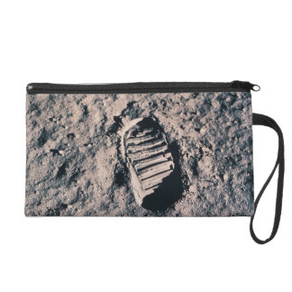 Footprint on Lunar Surface Wristlet